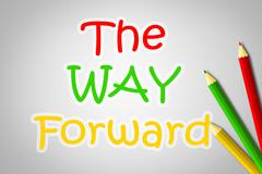 the way forward concept - stock illustration