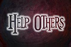help others concept - stock illustration