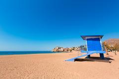 bolnuevo beach in mazarron murcia at spain - stock photo