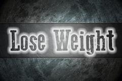 lose weight concept - stock illustration