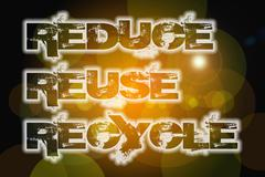 Reduce reuse recycle concept Stock Illustration