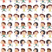 Boys and Girls - stock illustration