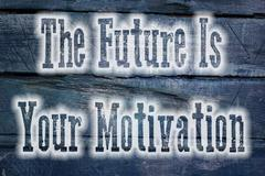 The future is your motivation concept Stock Illustration