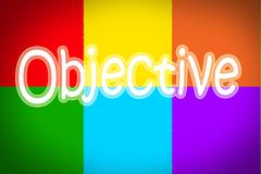objective concept - stock illustration