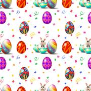 An Easter Sunday seamless design - stock illustration