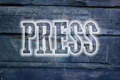 Press release Stock Illustration