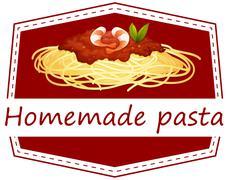 Homemade Pasta Stock Illustration