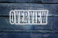 Overview concept Stock Illustration