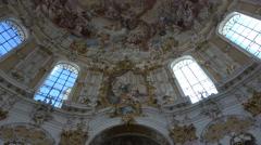 Ettal Abbey Benedictine Monastery Germany inside altar 4K 004 Stock Footage