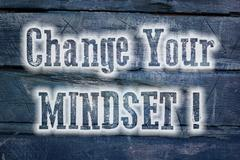 Change your mindset concept Stock Illustration
