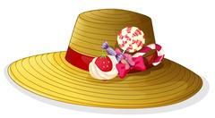 Stock Illustration of A fashionable hat with candies