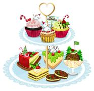 Baked goods - stock illustration