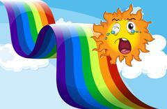 A crying sun near the rainbow Piirros