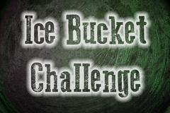 ice bucket challenge concept - stock illustration