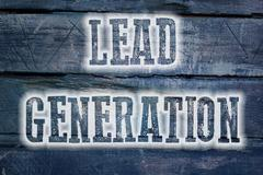 lead generation concept - stock illustration