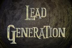 Lead generation concept Stock Illustration