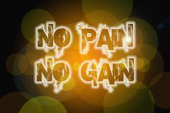 no pain no gain concept - stock illustration