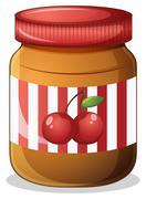 Stock Illustration of A cherry jam