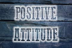 positive attitude concept - stock illustration
