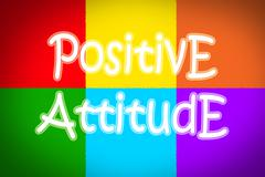 Positive attitude concept Stock Illustration