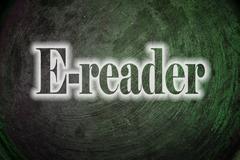 e-reader text on background - stock illustration