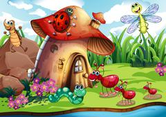 Insects colony - stock illustration