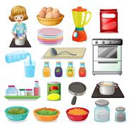 Stock Illustration of Food and kitchenware