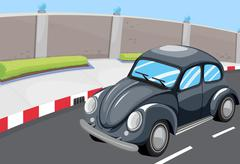 Stock Illustration of A vehicle at the road