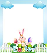 An Easter Sunday empty card template Stock Illustration