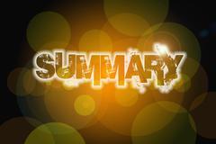 summary concept - stock illustration