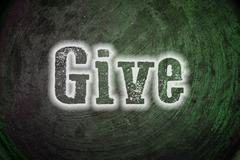 Stock Illustration of give concept