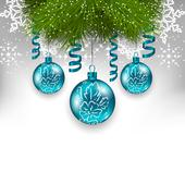 christmas background with traditional adornment - stock illustration