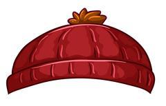 A red bonnet - stock illustration