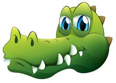 A head of a crocodile Stock Illustration