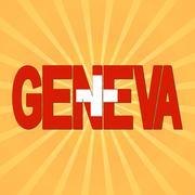 Geneva flag text with sunburst illustration Piirros