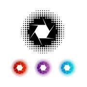 Photography Aperture Logo - stock illustration