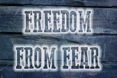 freedom from fear concept - stock illustration