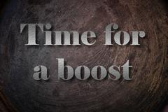 Time for a boost text on background Stock Illustration