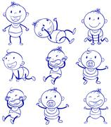 Baby actions Stock Illustration