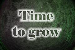time to grow text on background - stock illustration