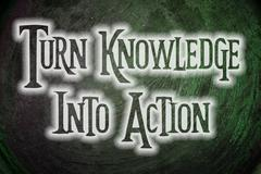 Turn knowledge into action concept Stock Illustration