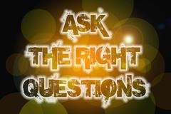 Ask the right questions concept Stock Illustration