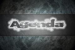 Agenda text on background Stock Illustration