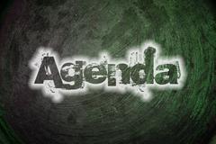 agenda text on background - stock illustration