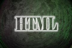 Html text on background Stock Illustration