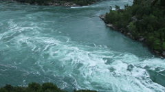 Niagara River in Niagara Falls Stock Footage