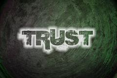Trust text on background Stock Illustration