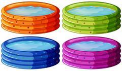Kiddie pools - stock illustration