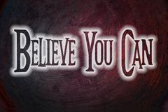 Stock Illustration of believe you can concept