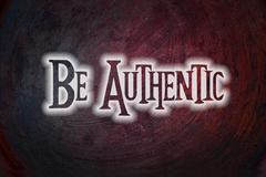be authentic concept - stock illustration